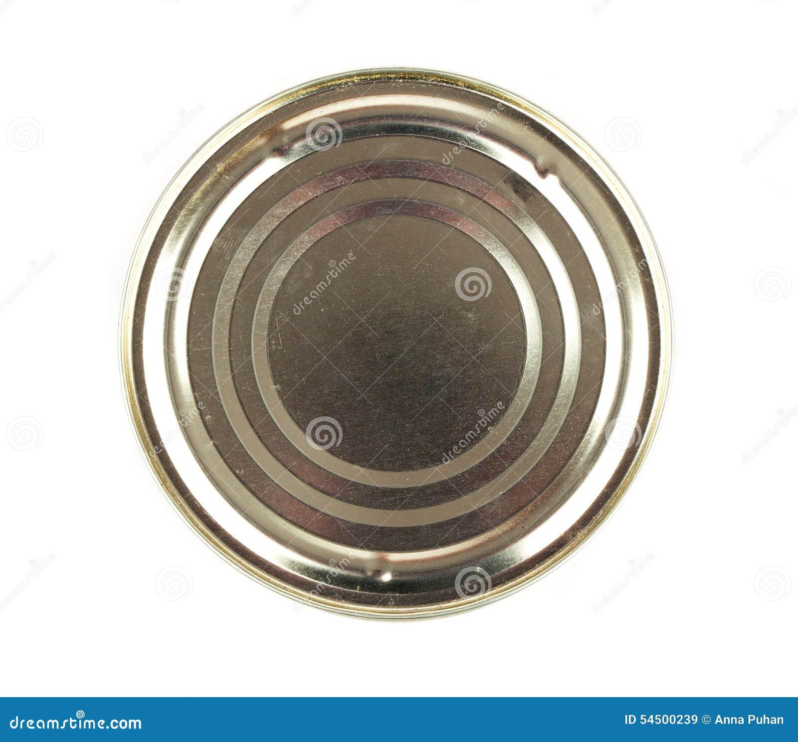 Deksel of Basis van Voedsel Tin Can