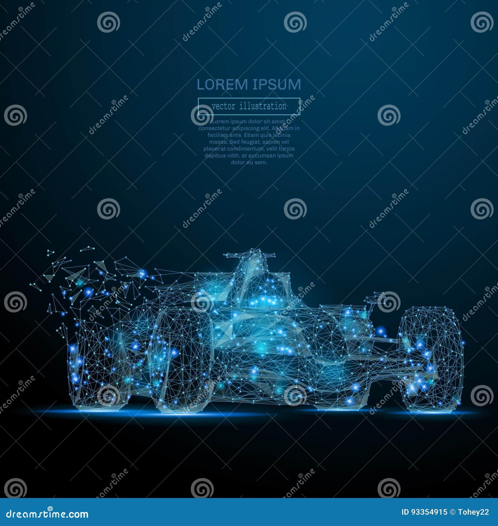 Del COCHE F1 azul polivinílico bajo