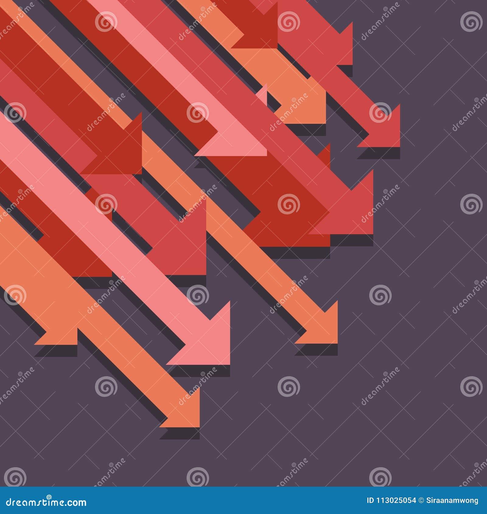 Del gráfico flechas abstractas abajo