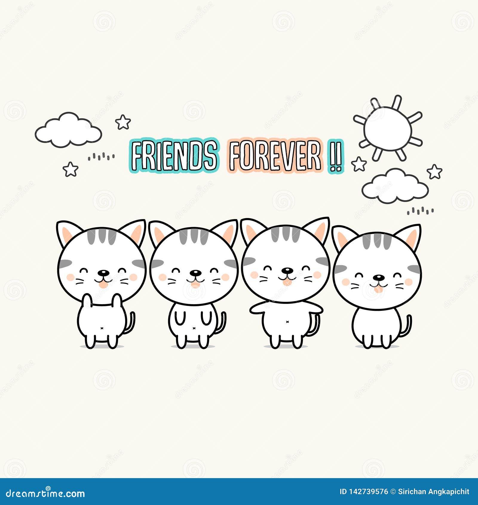 Del mejor amigo historieta de los gatos para siempre