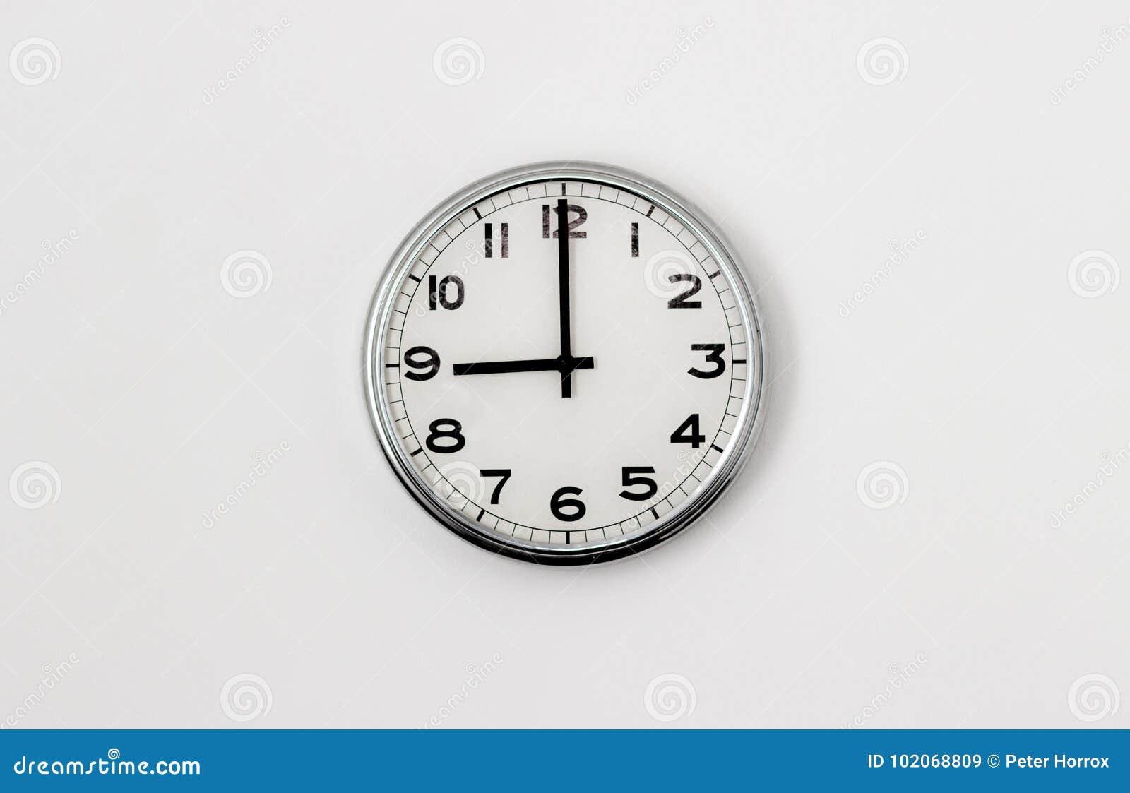 9:00 del reloj