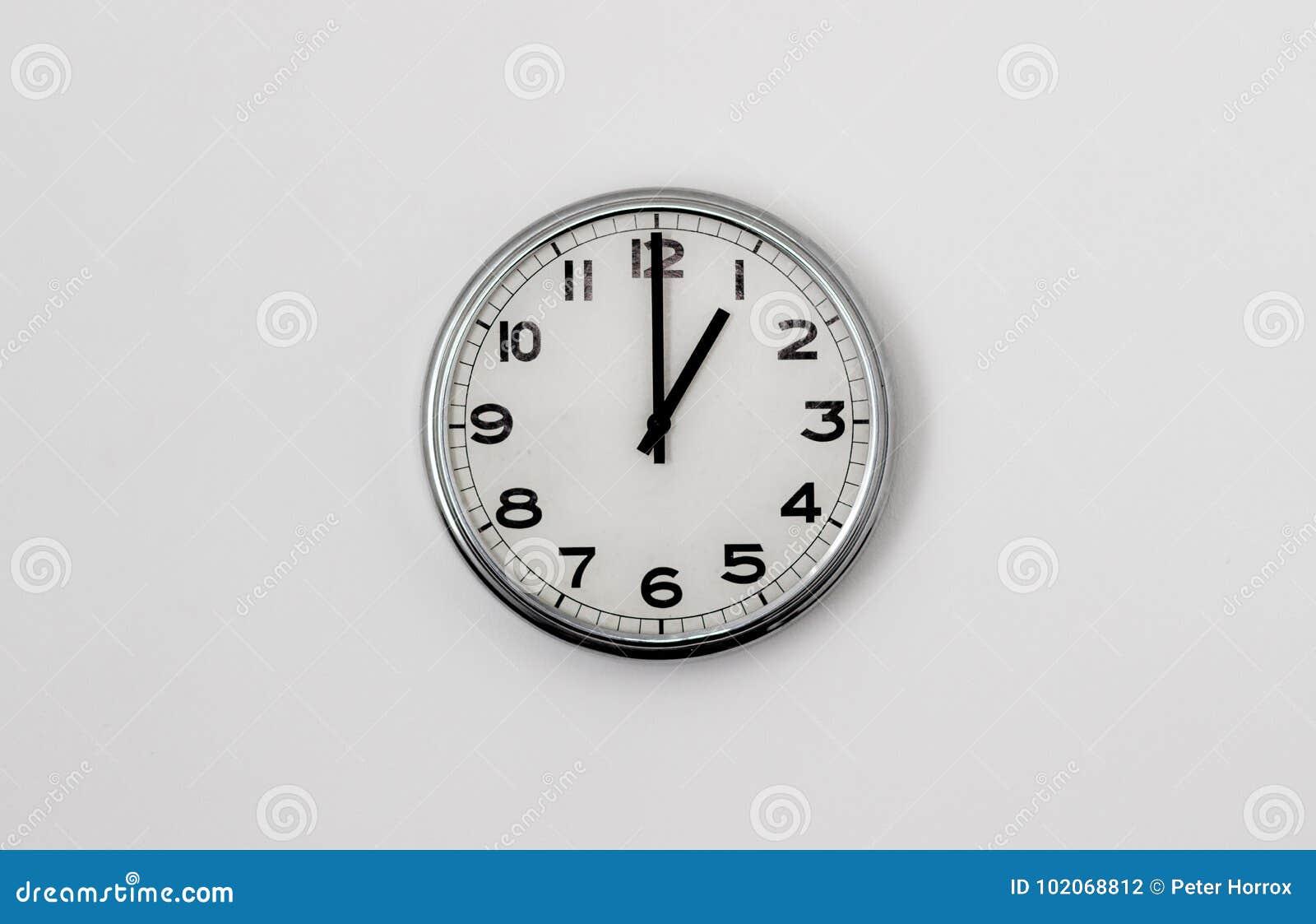 1:00 del reloj
