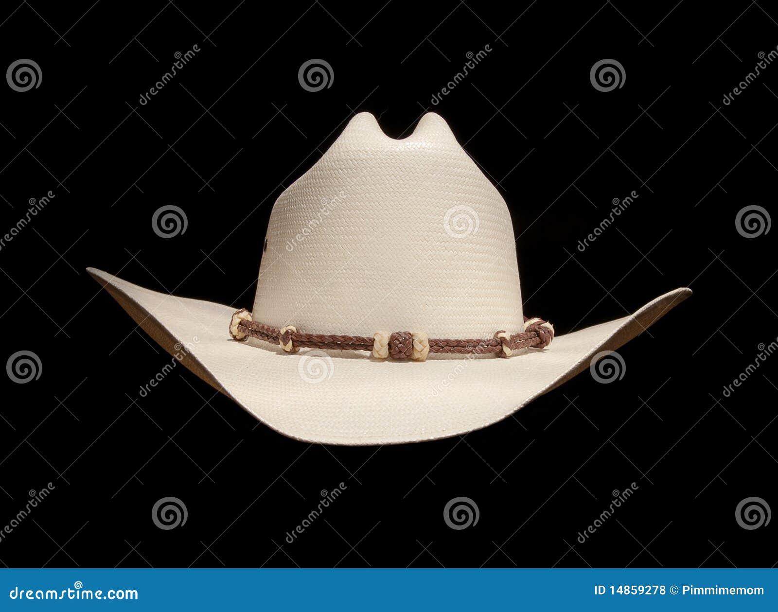Del Sombrero De Vaquero Blanco Foto de archivo - Imagen de trenza ... 2afa5b20030