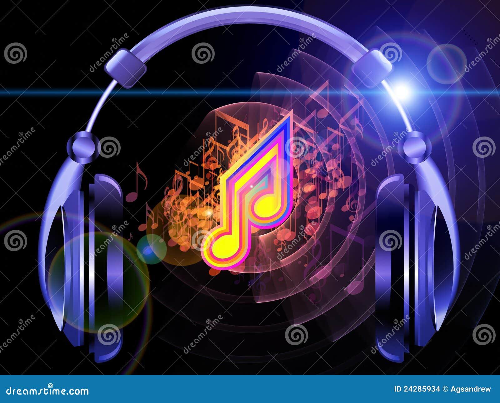 del suono  della musica e delle cuffie fotografia stock vector music notes background vector music notes png