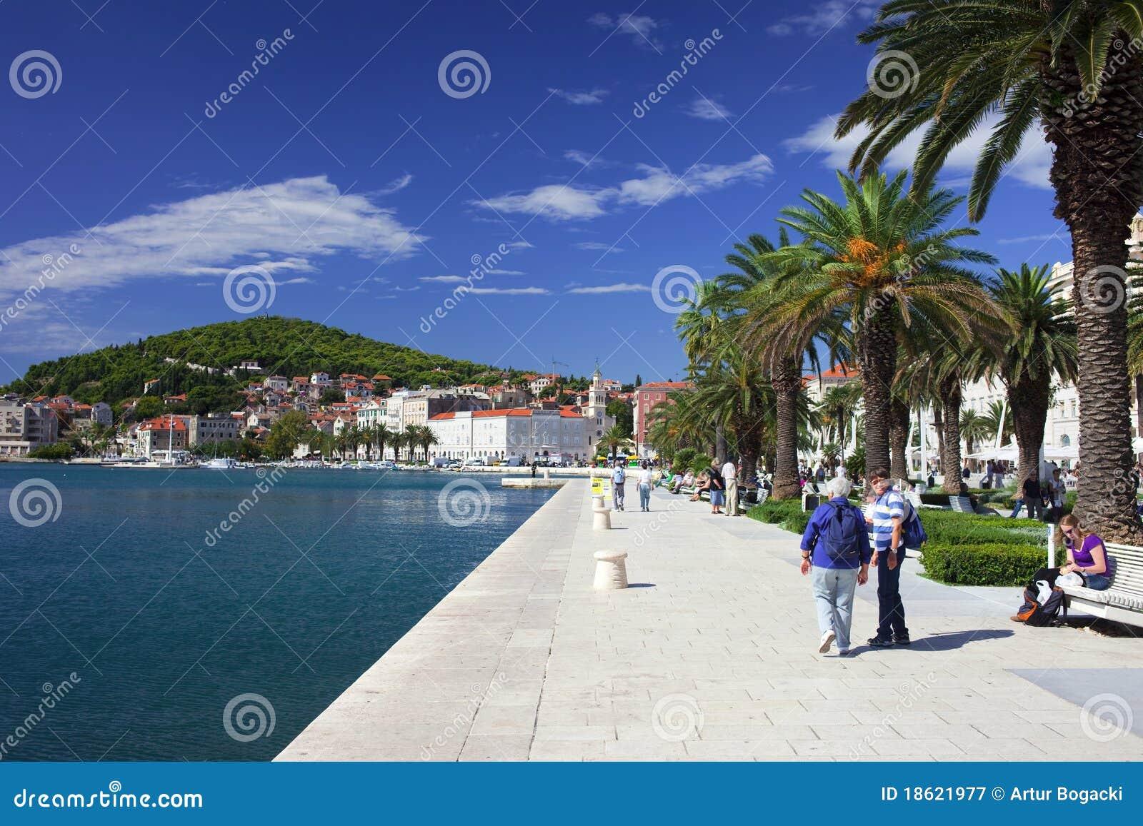 Delad strand för promenad