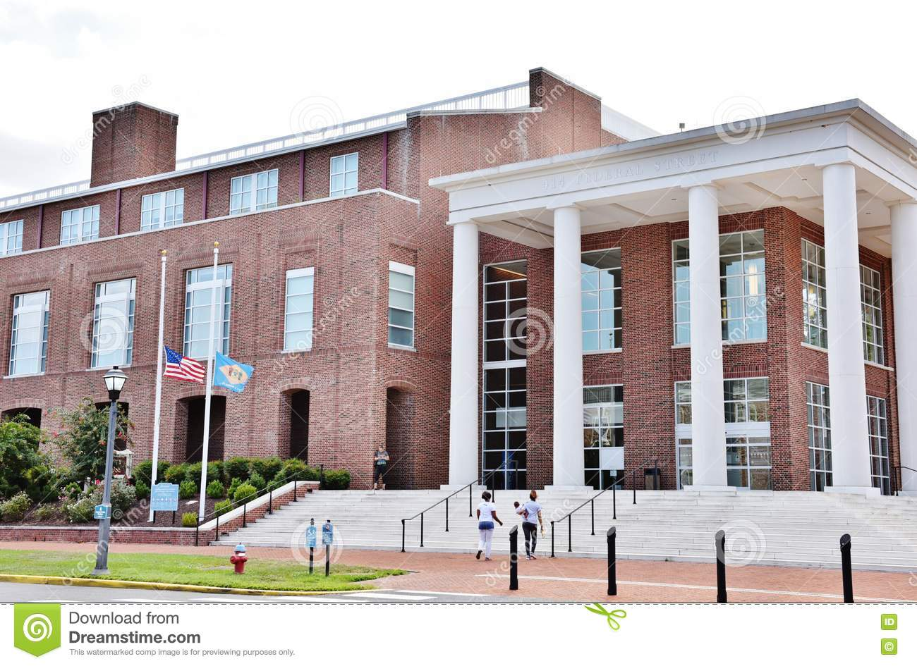 Delaware State Kent County Courthouse Dover Editorial Stock