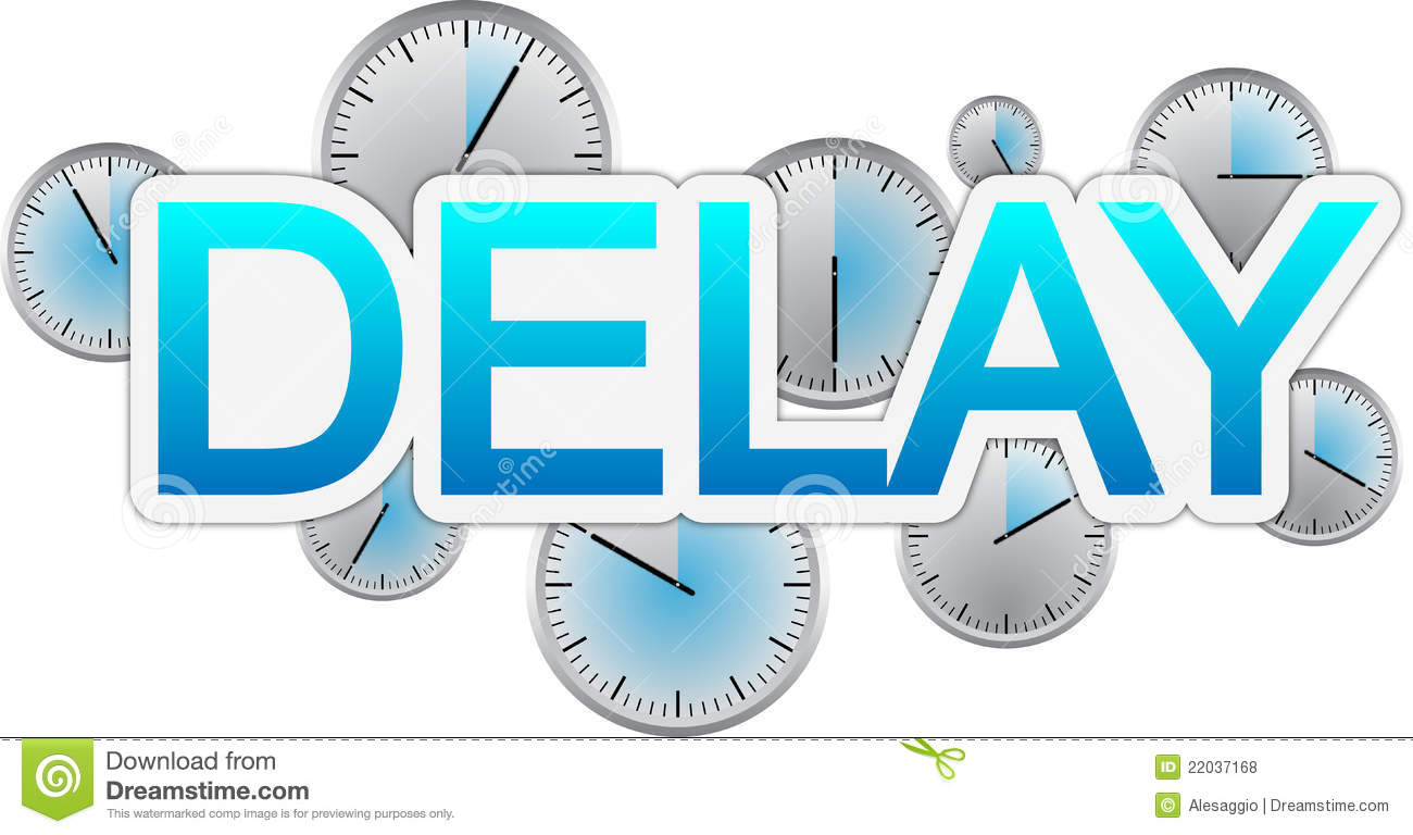 Delay Text Banner Royalty Free Stock Photos - Image: 22037168