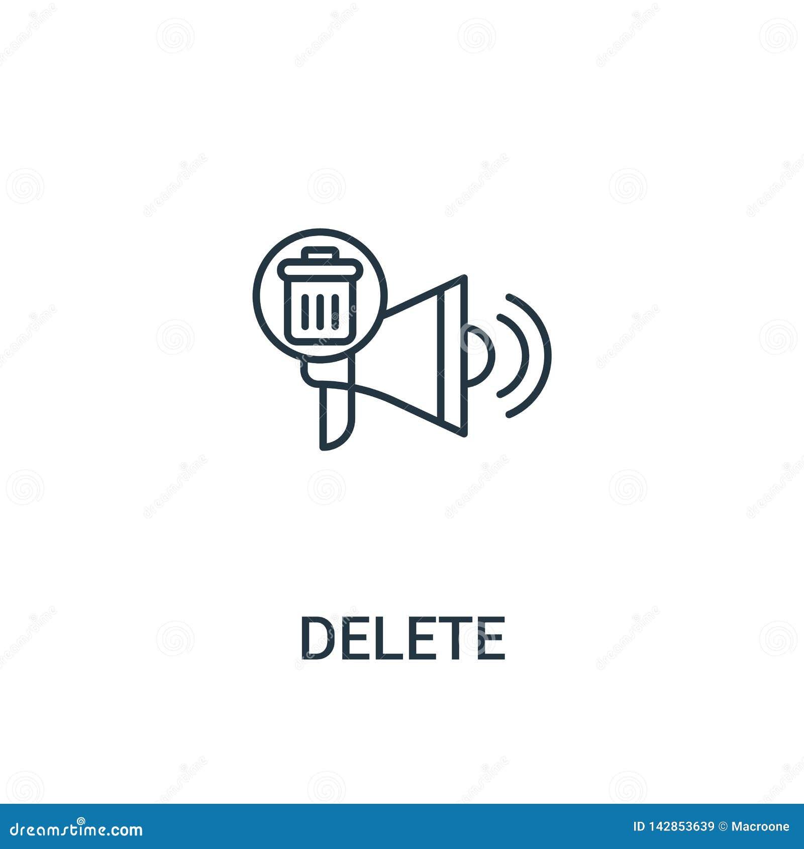 Deleatur ikony wektor od reklam inkasowych Cienieje kreskowego deleatur konturu ikony wektoru ilustrację Liniowy symbol dla używa