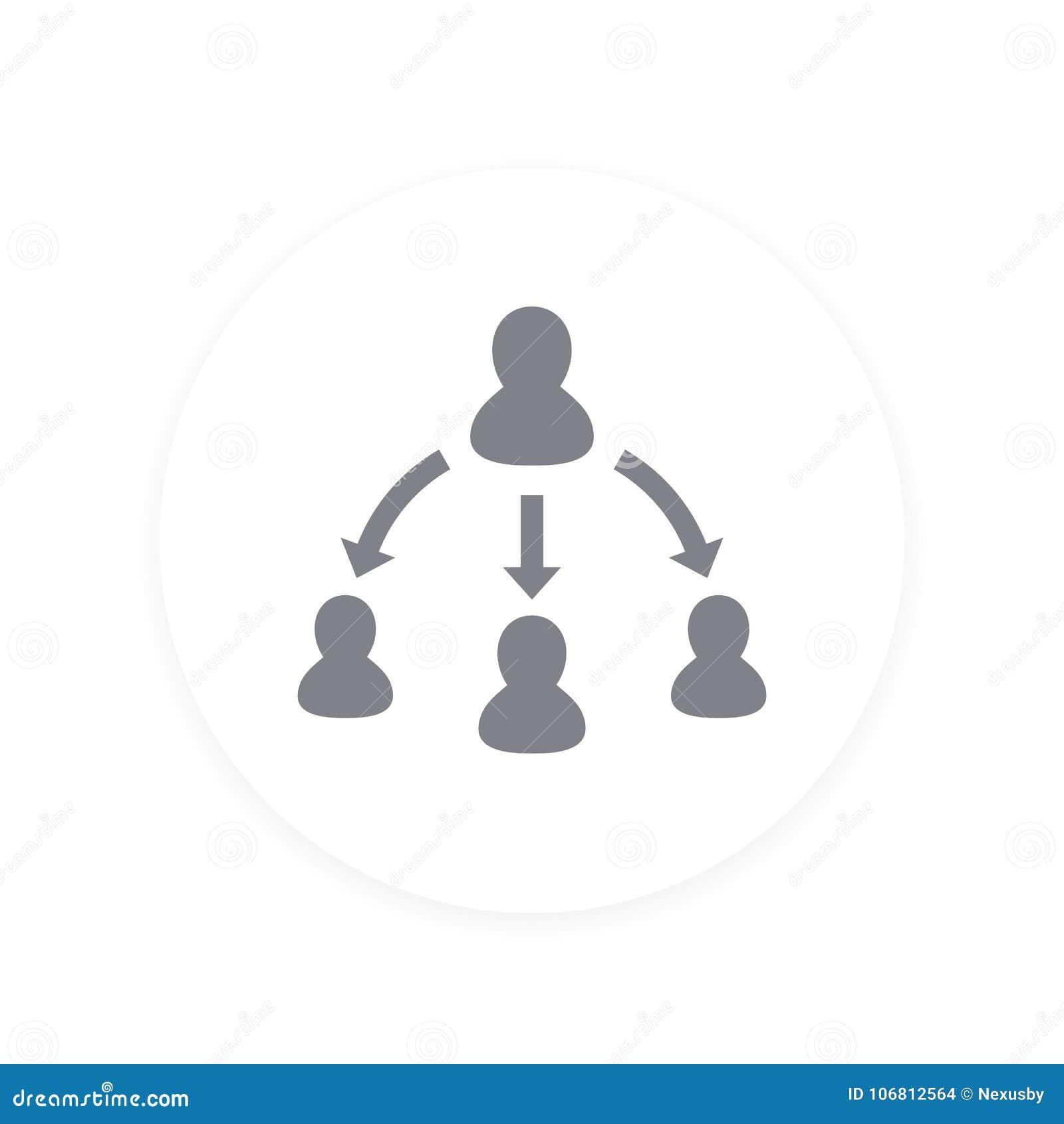 Delegationsymbol, pictogram