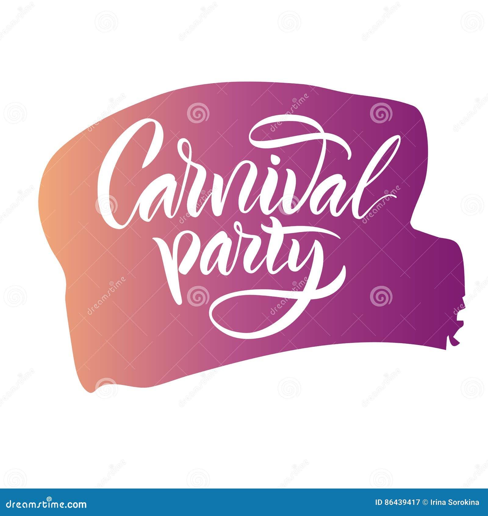 Deletreado La Frase Del Partido Del Carnaval Del