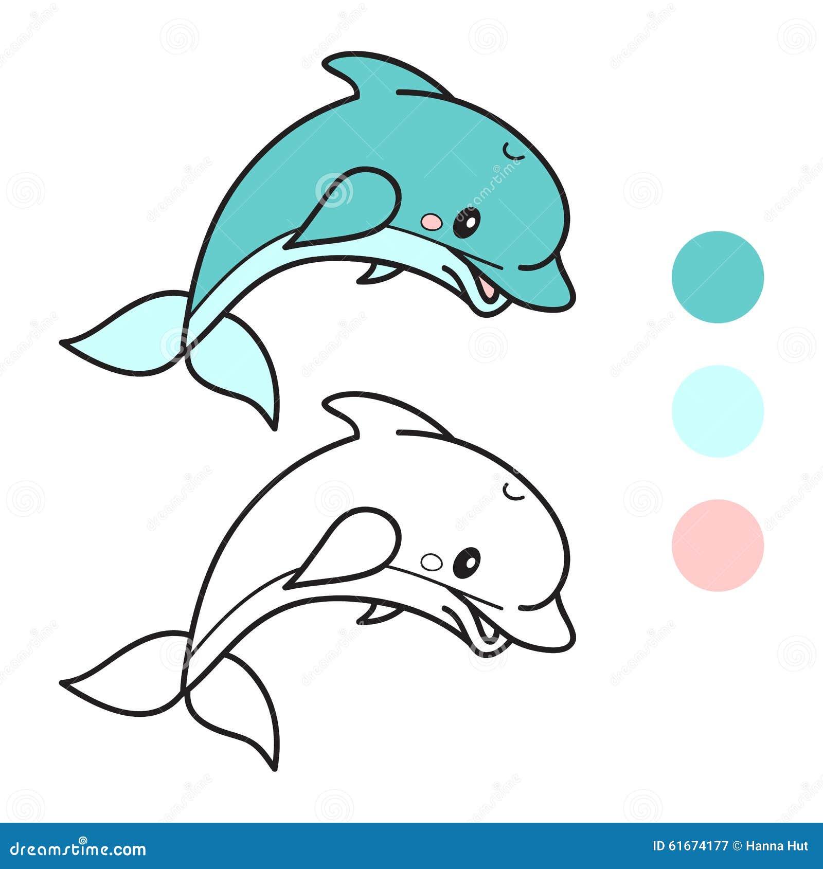 Famoso Lindos Delfines Para Colorear Patrón - Enmarcado Para ...
