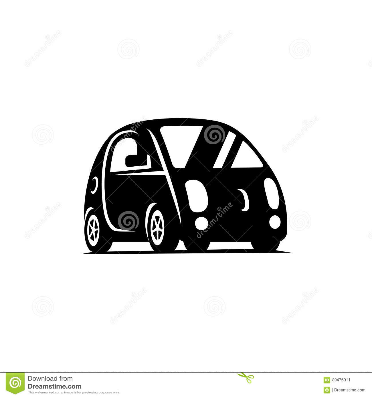 delf driving driverless vehicle car side view flat icon stock vector image 89476911. Black Bedroom Furniture Sets. Home Design Ideas