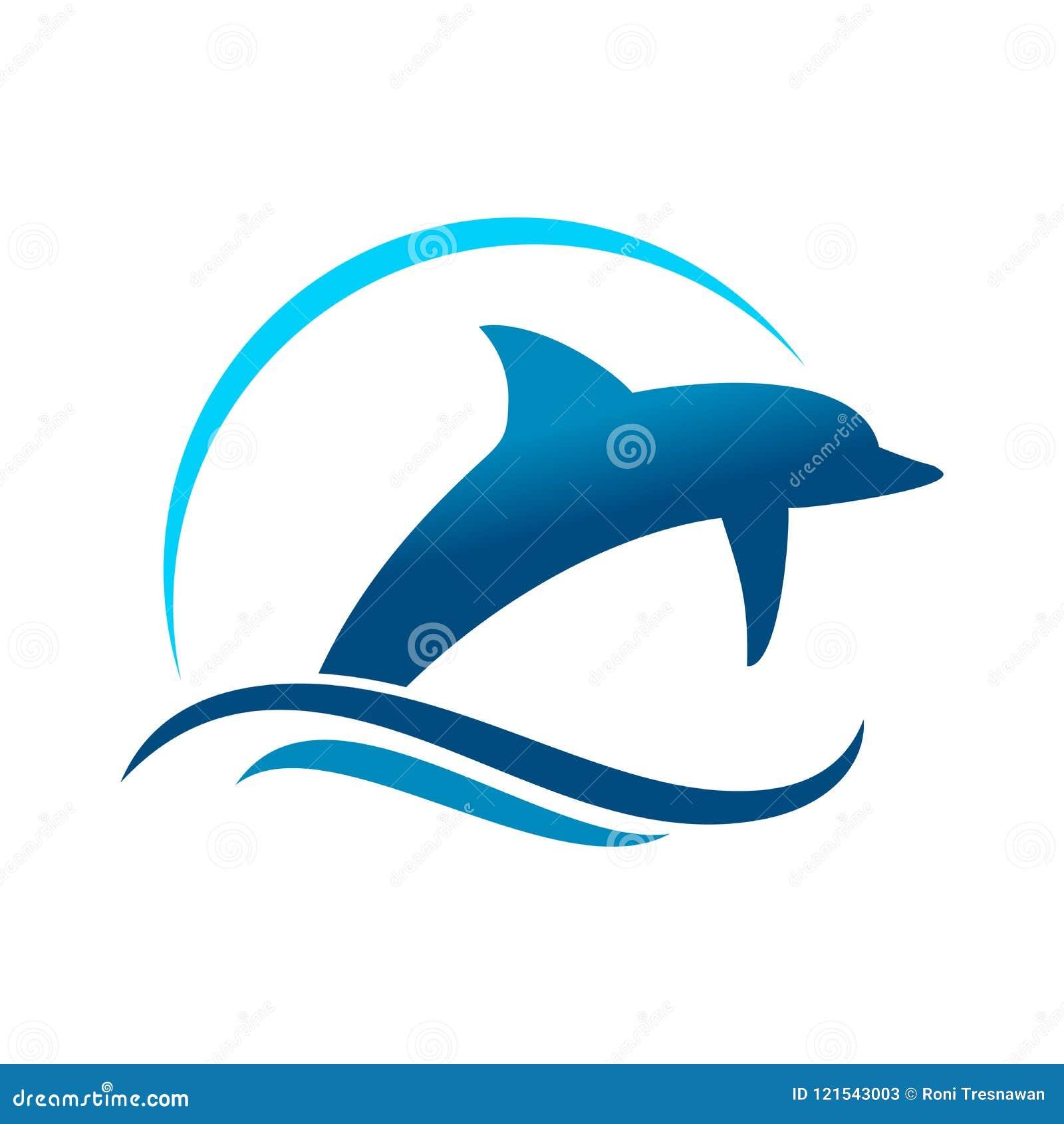 Delfin Morski Skacze symbolu projekt