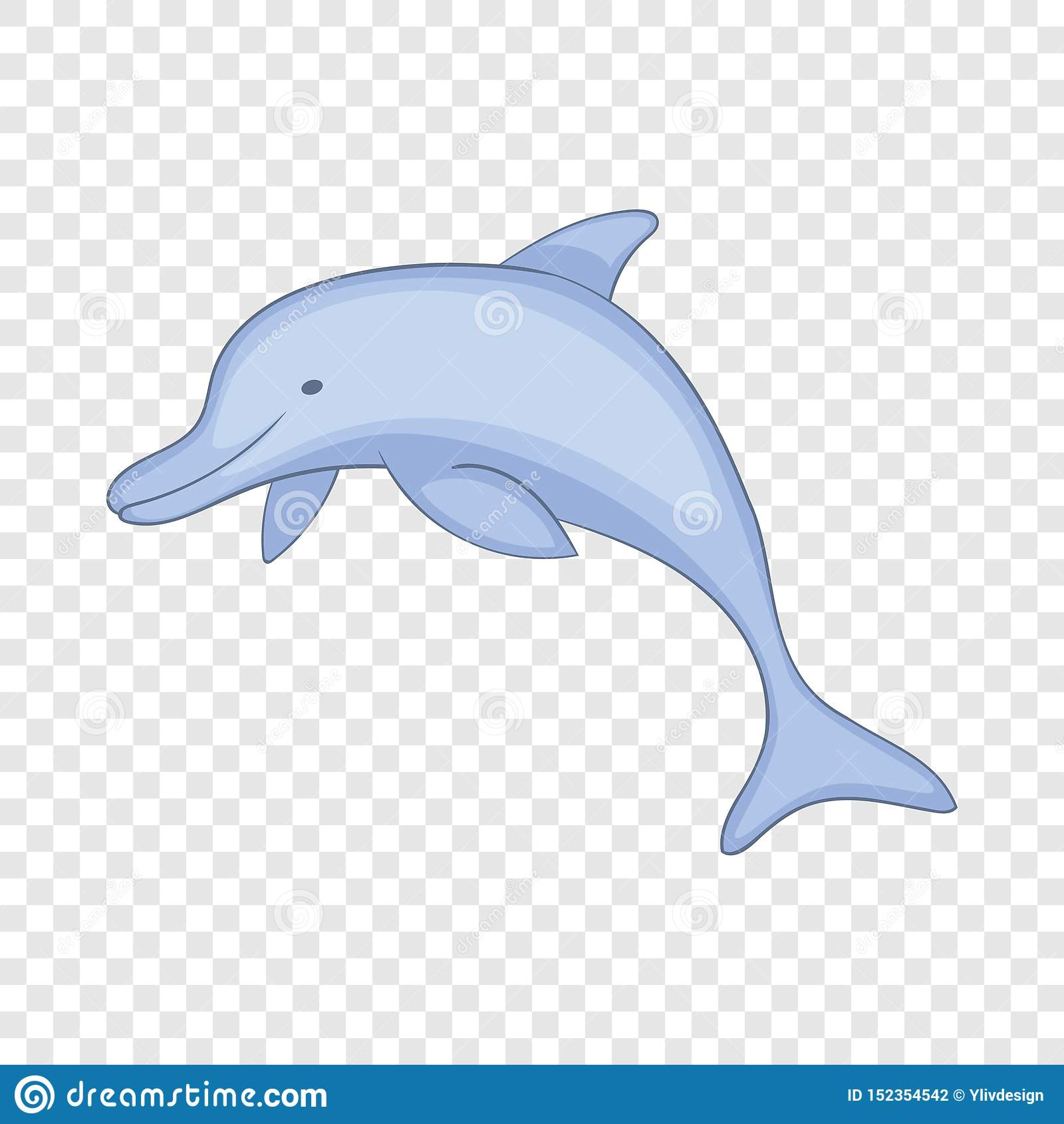 Delfinsymbol, tecknad filmstil