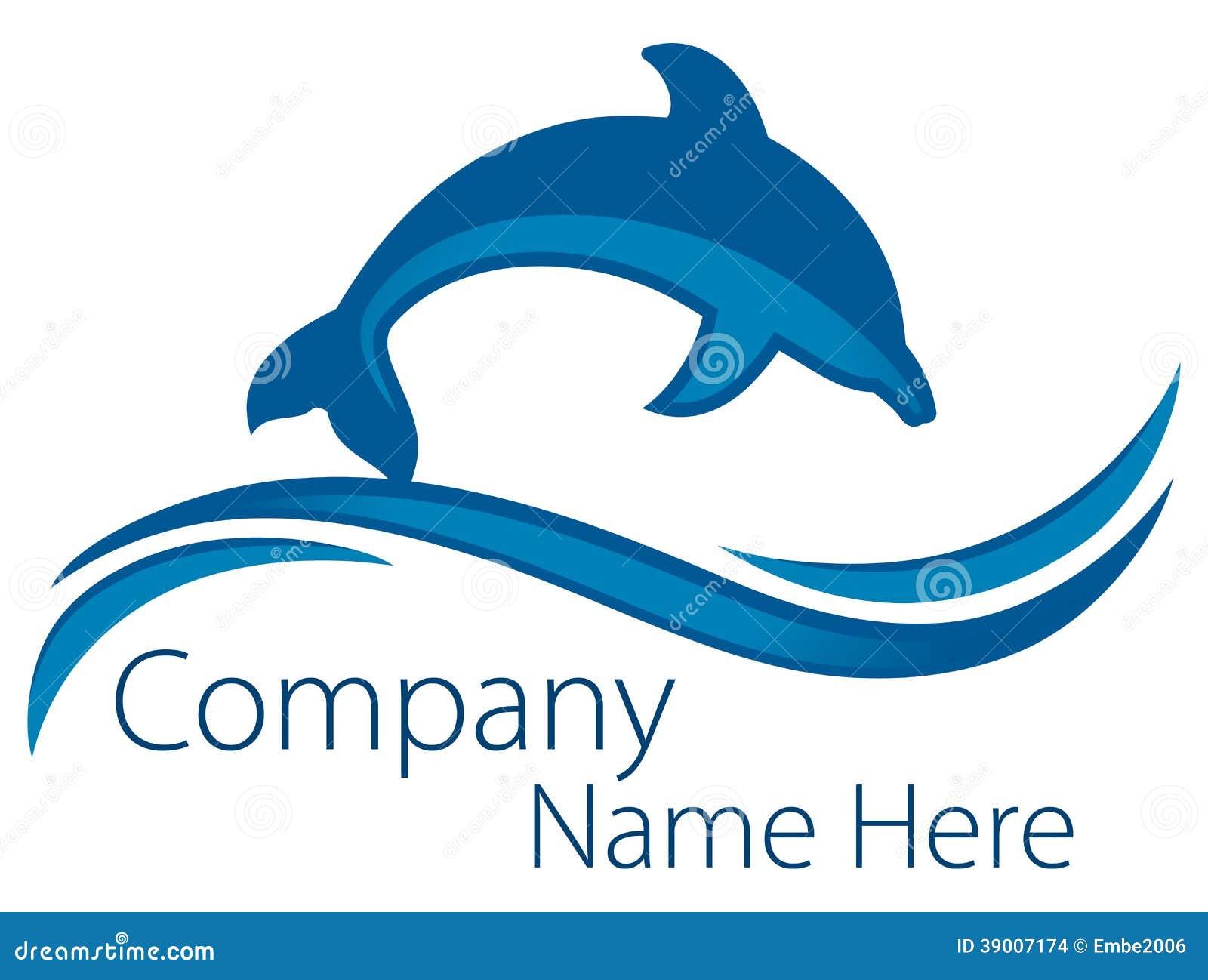 Delfinu oceanu logo