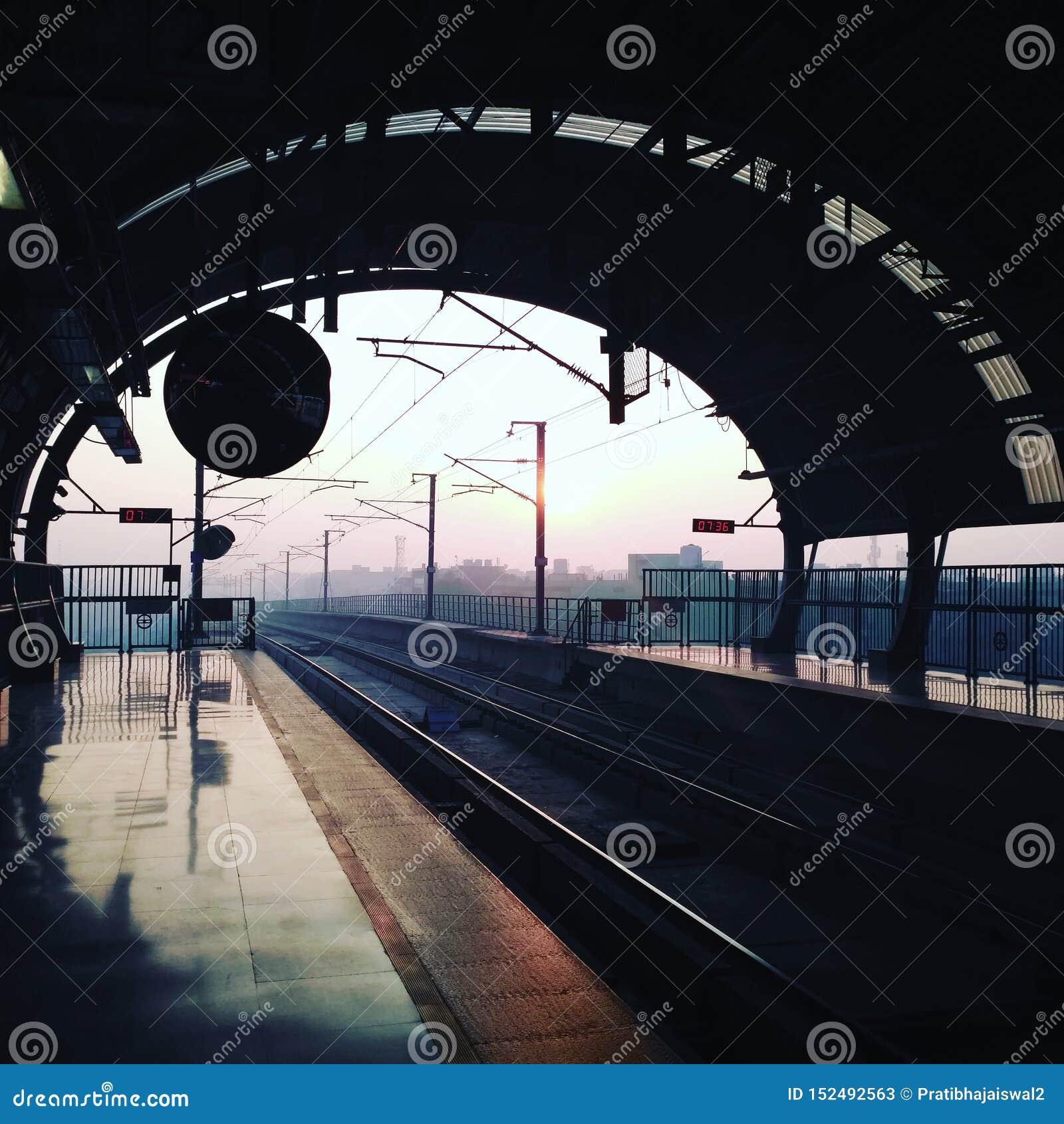 Delhi tunnelbanabilder