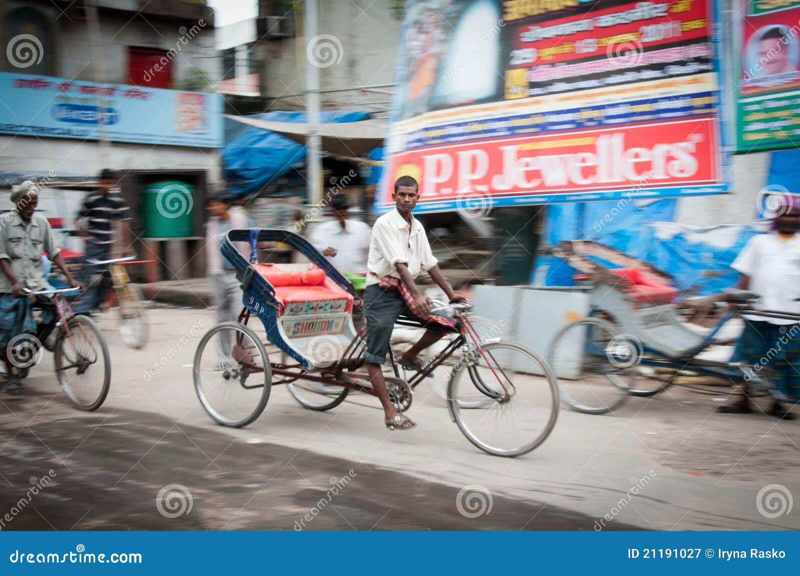 Delhi young rickshaw