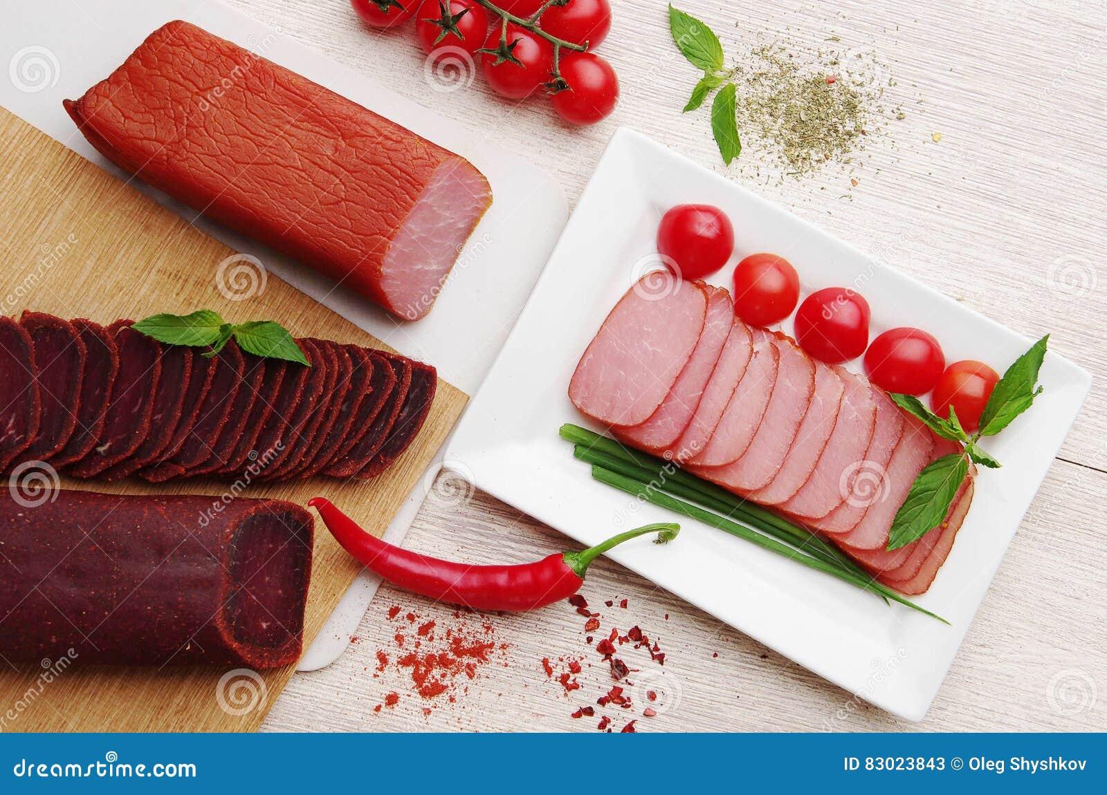 Delicacy Alimento da carne na placa