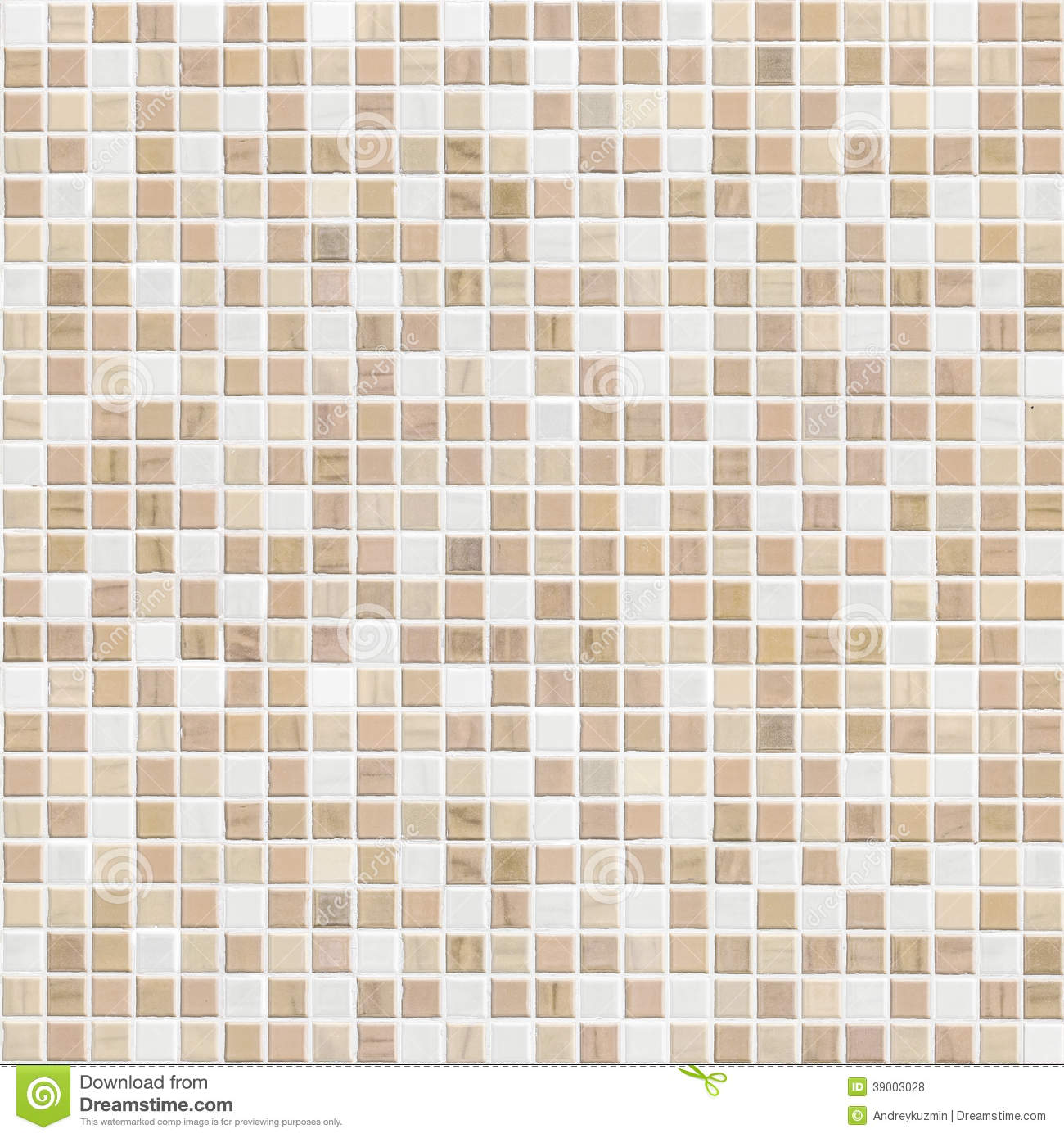 Color Marble Mosaic Designs : Delicate color brown mosaic tile wall stock photo image