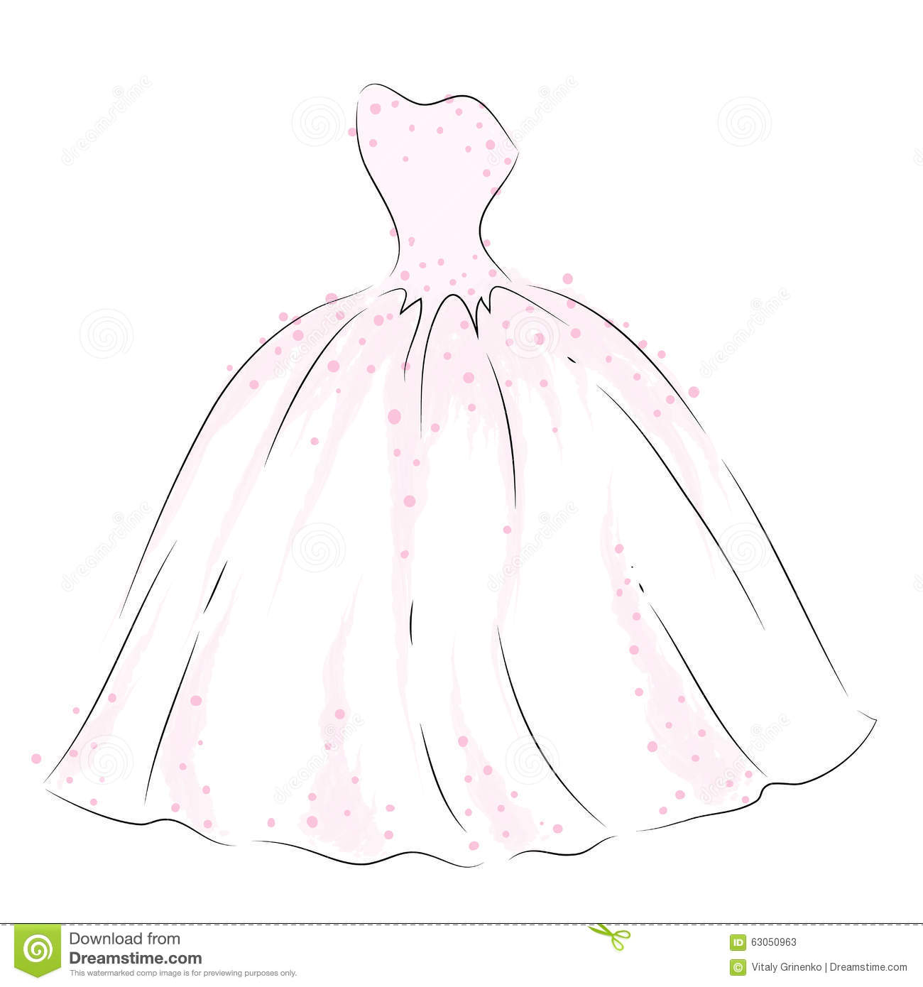 Wedding dress drawings and designs