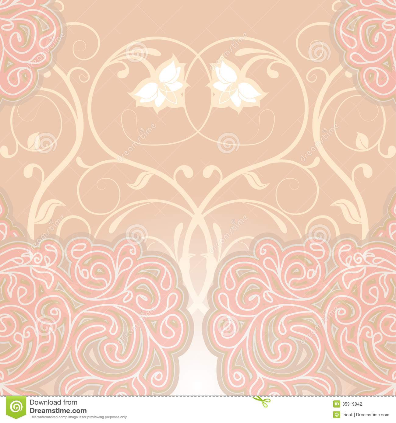 Delicate Floral Stock Vector Image Of Antique Abstract
