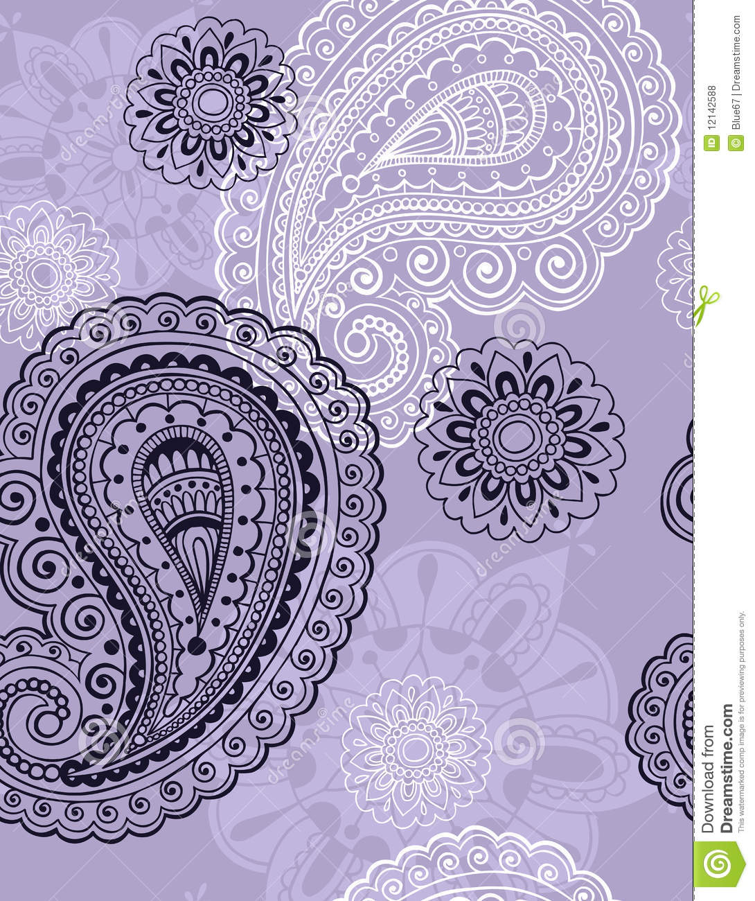 delicate henna paisley seamless repeat pattern royalty free stock photos image 12142588