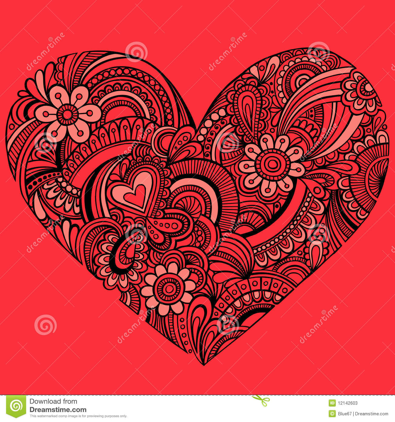 delicate red henna paisley heart vector stock photos Photography Repeating Patterns Create Repeating Pattern App