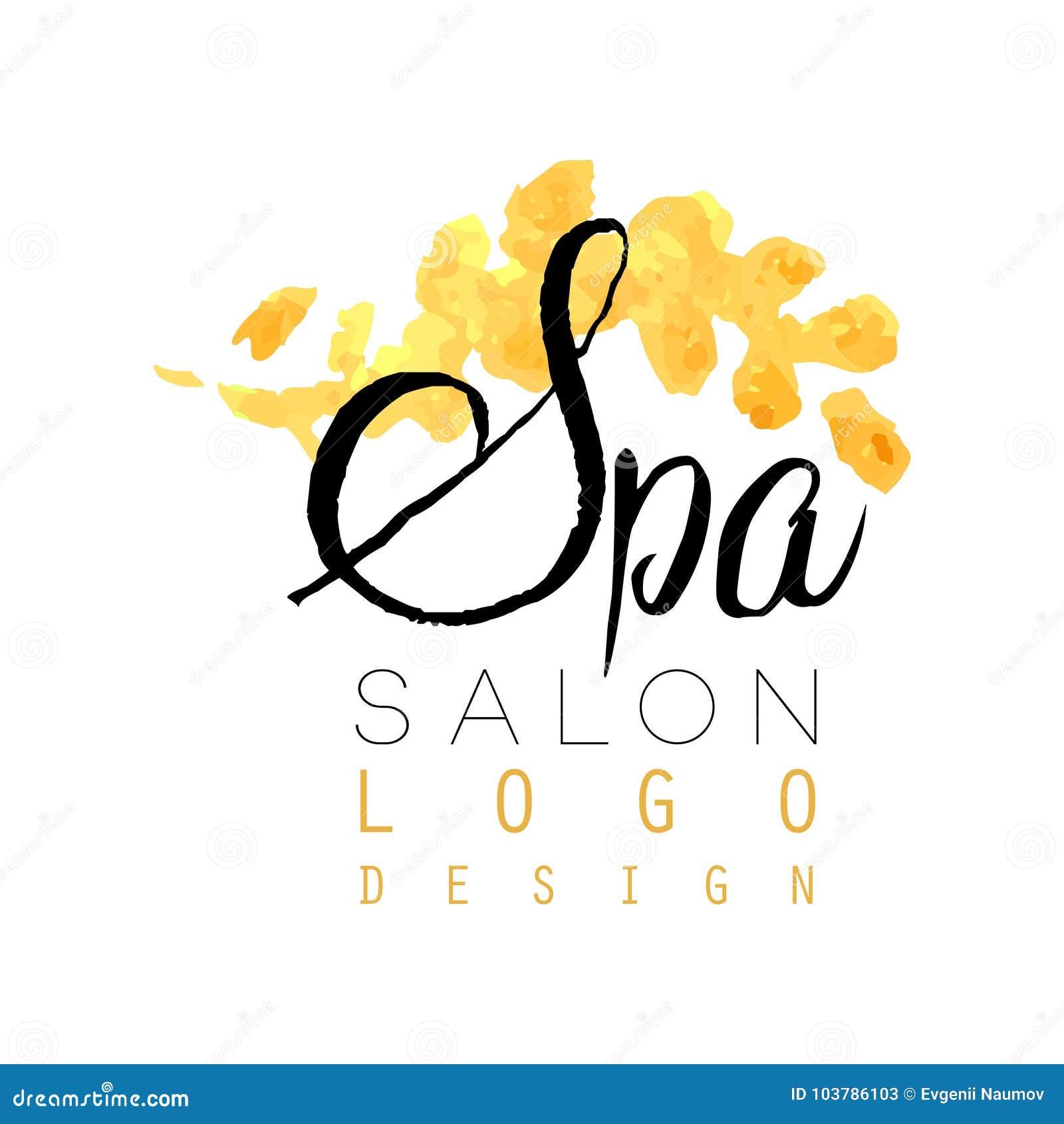 Delicate spa embleem origineel ontwerp Vrouwelijk etiket met zachte kleuren Gezondheidszorg en ontspanningsconcept