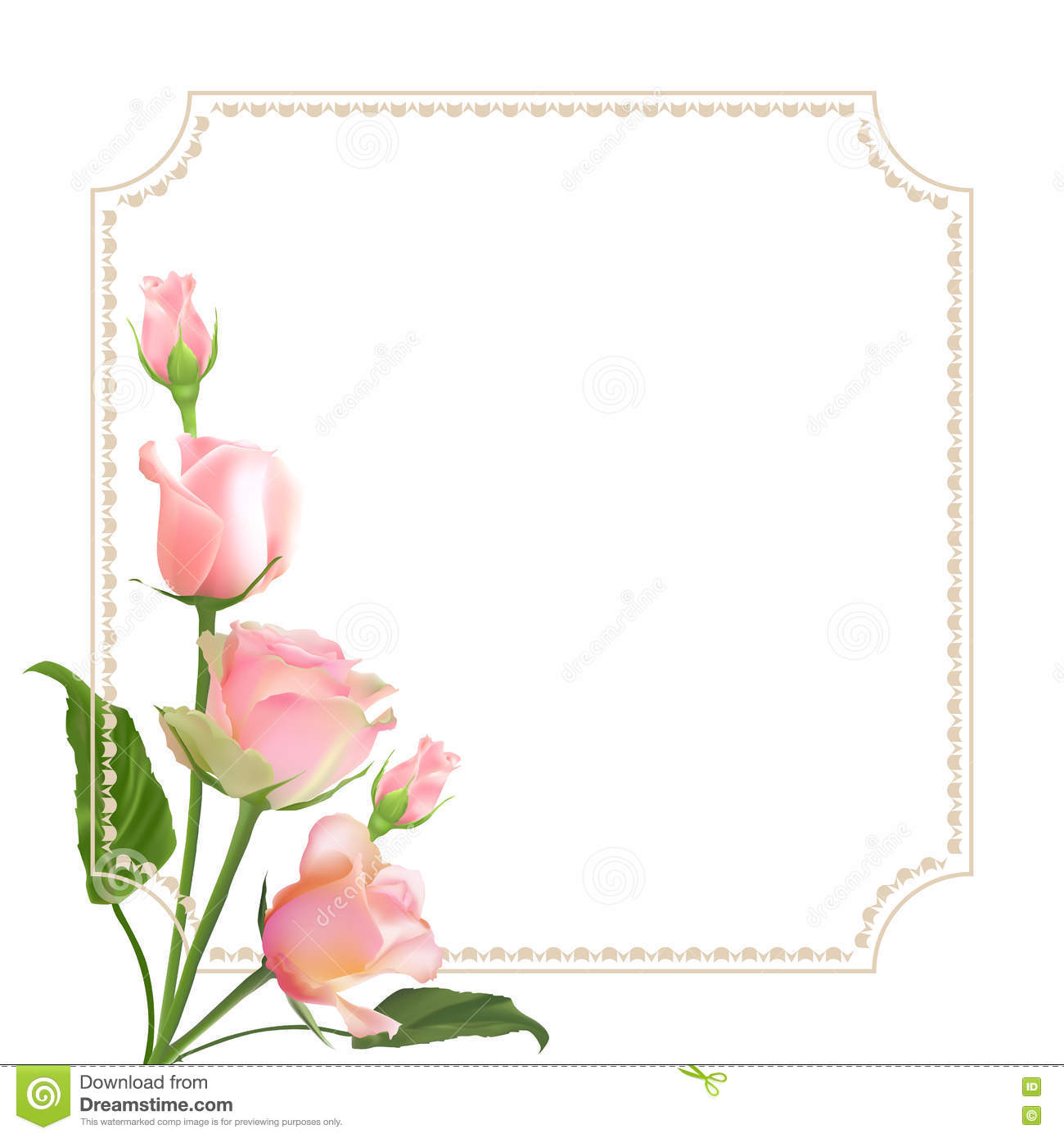 delicate vector roses stock vector image of leaf