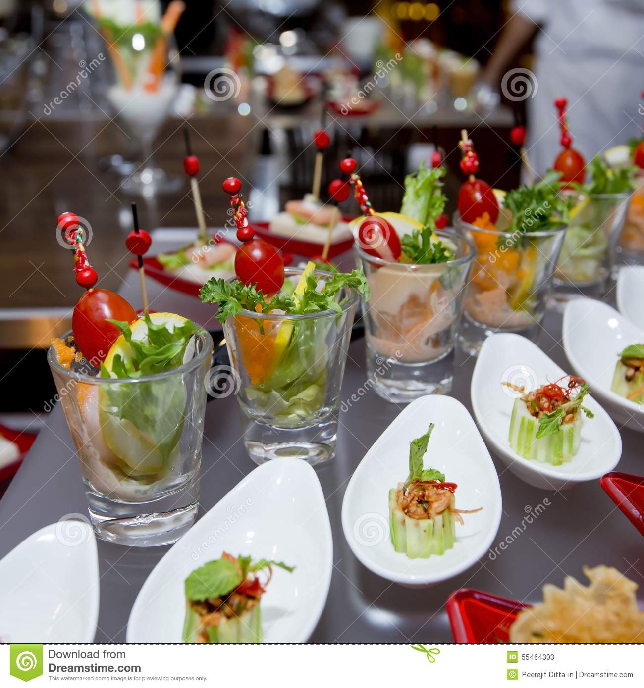 Delicious appetizer and finger foods stock image image for Appetizer decoration