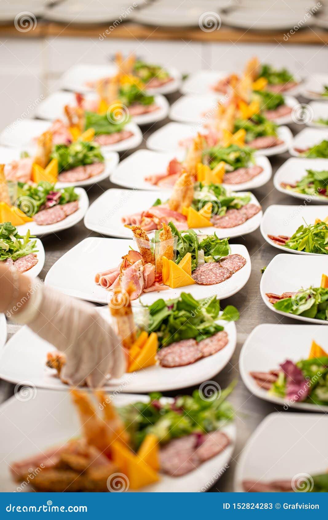 Delicious appetizer plates