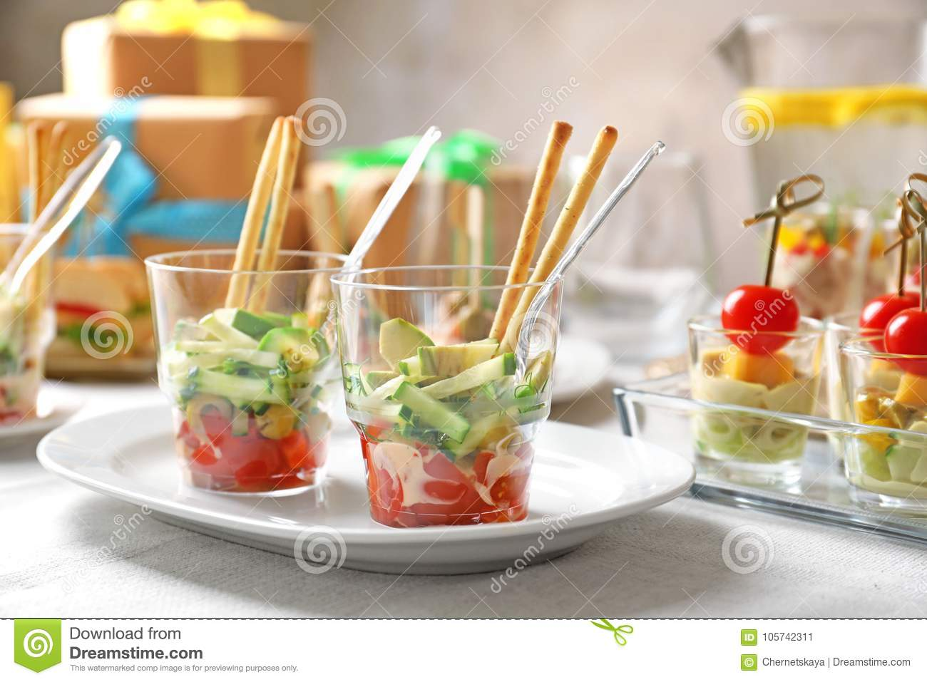 Delicious Appetizers For Baby Shower Stock Image Image Of