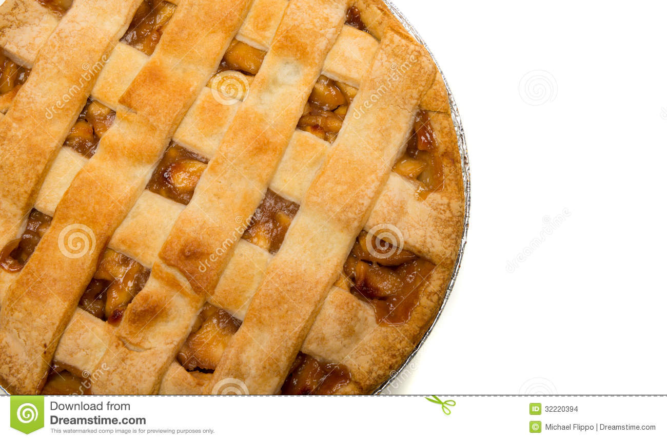 A Delicious Apple Pie On White Stock Images Image 32220394