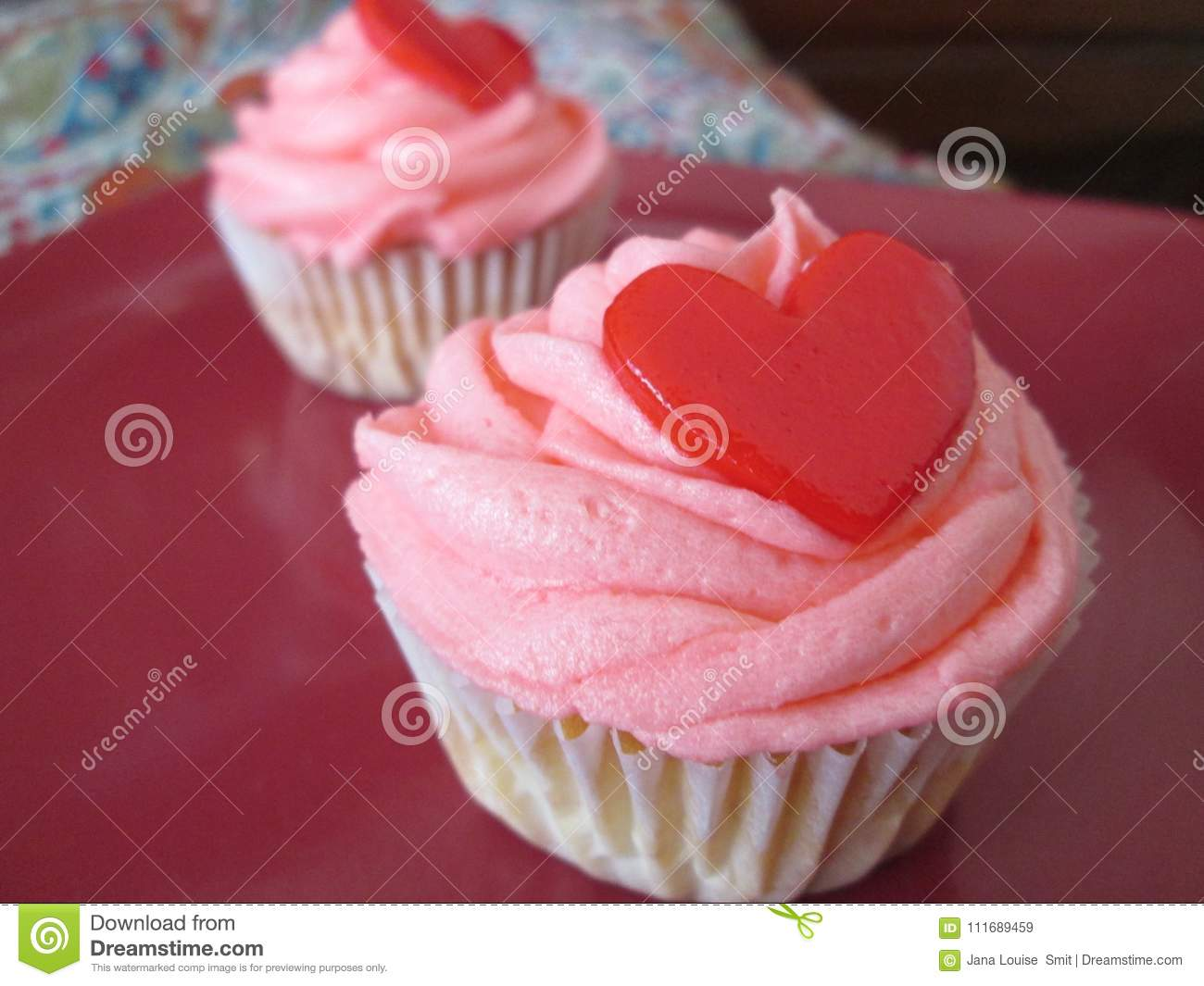Delicious And Beautifully Decorated Cupcakes Stock Image Image Of