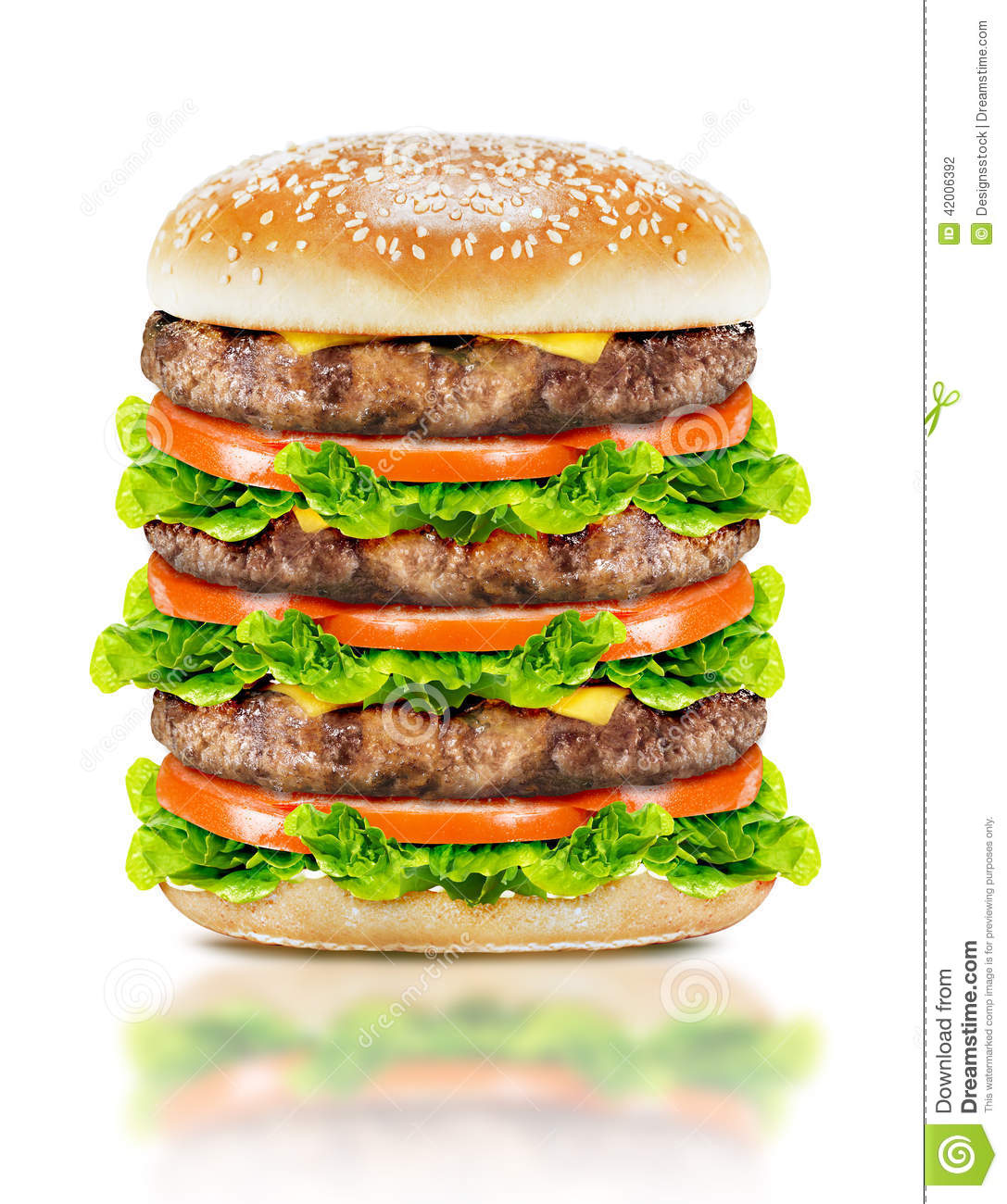 Delicious big burger stock photo image 42006392 for Burger de