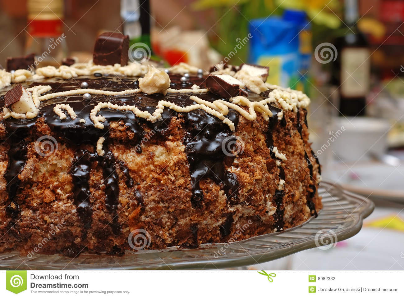 Images Of Delicious Birthday Cake : Delicious birthday cake stock photo. Image of cooking ...