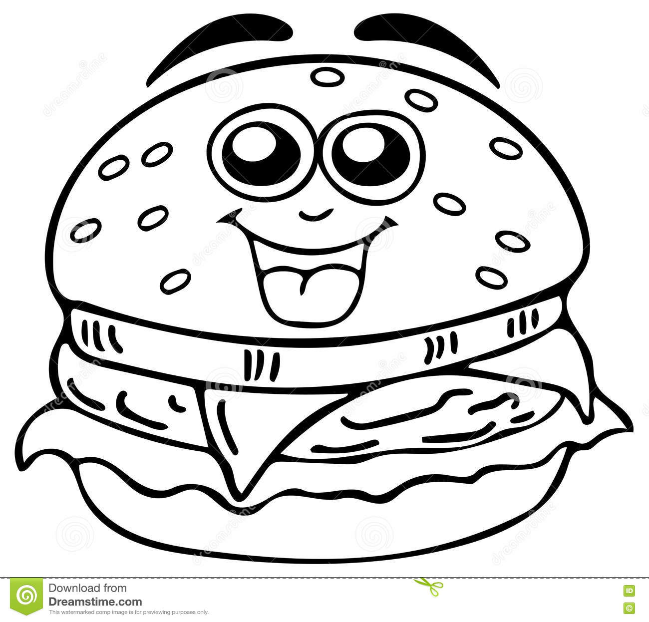Cheeseburger Coloring Pages Sketch Coloring Page Cheeseburger Coloring Page