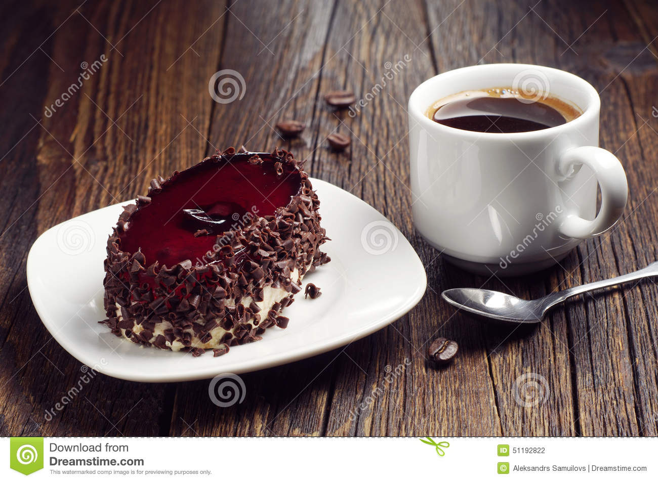 Chocolate Coffee Beans Cake Decoration