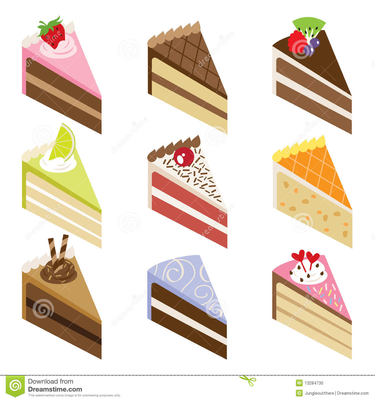 Delicious Cake Clipart : Delicious Cake Slices Stock Photo - Image: 13284730