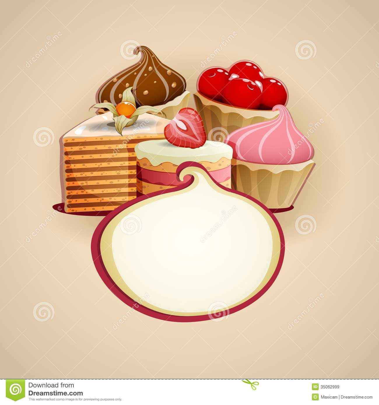 delicious cakes background royalty free stock images