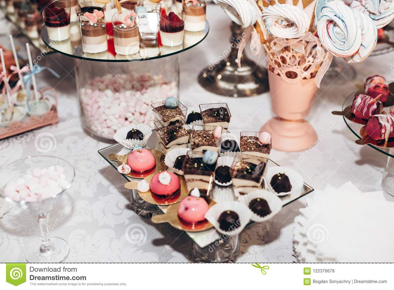 Delicious Candy Bar At Luxury Wedding Reception Exclusive Expe
