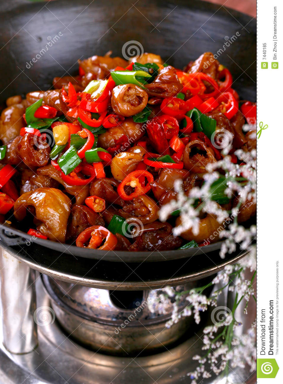 Delicious Chinese food cold dish- colorful vegetab