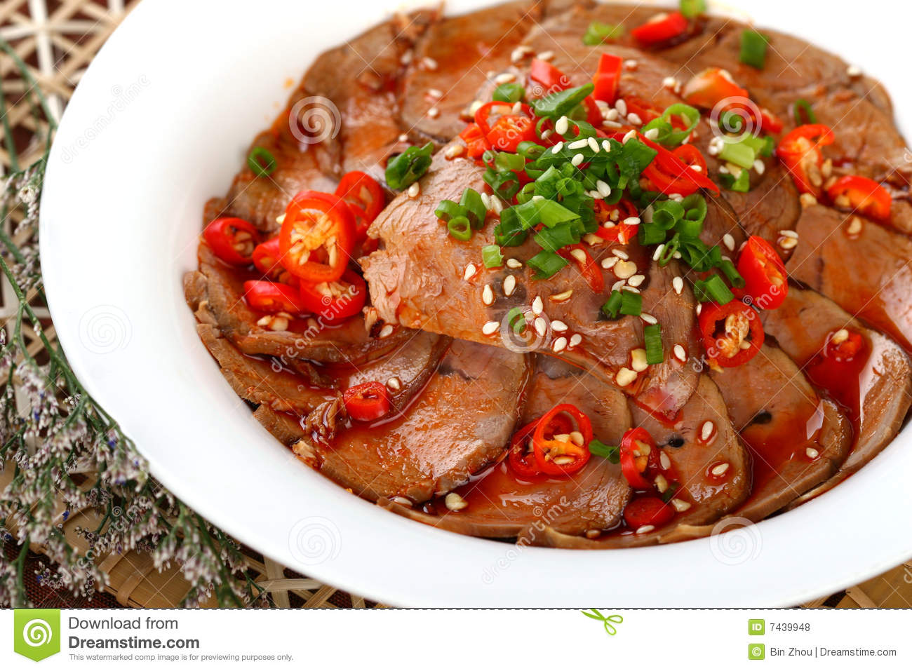 Delicious Chinese Food Cold Dish Hot Pepper Goose Stock