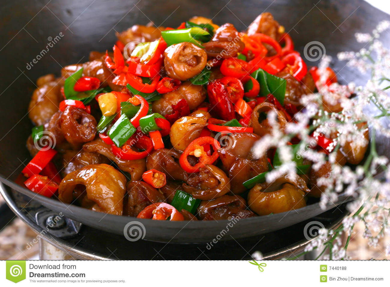 Delicious chinese food fried dish hot pepper sau stock photo image 7440188 - Delicious chinese cuisine ...