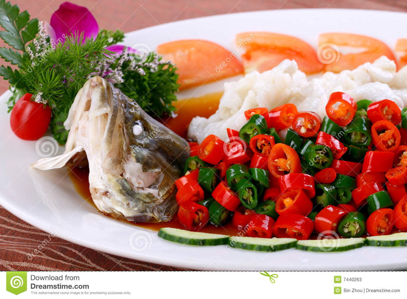 Delicious chinese food fried dish steamed fish stock image image 7440263 - Delicious chinese cuisine ...