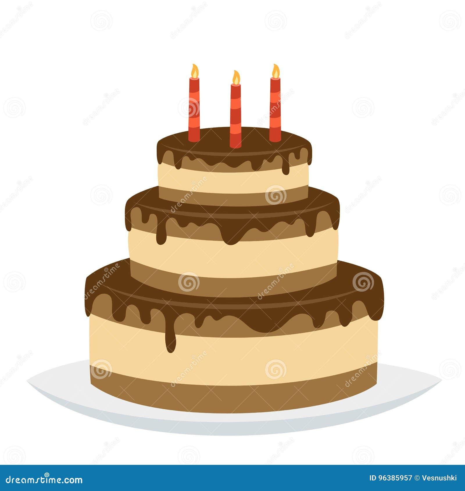 delicious chocolate birthday cake with happy birthday