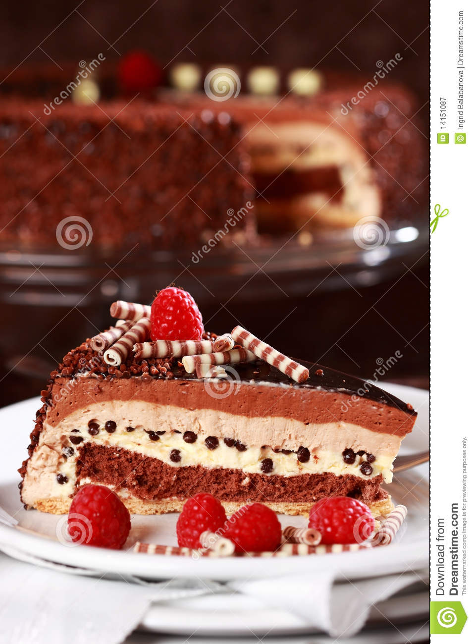 Delicious Chocolate Cake Stock Image Image Of Dessert