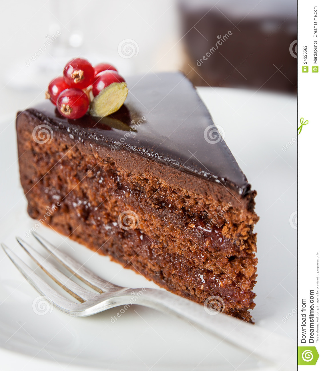 Delicious chocolate cake stock photo. Image of food ...