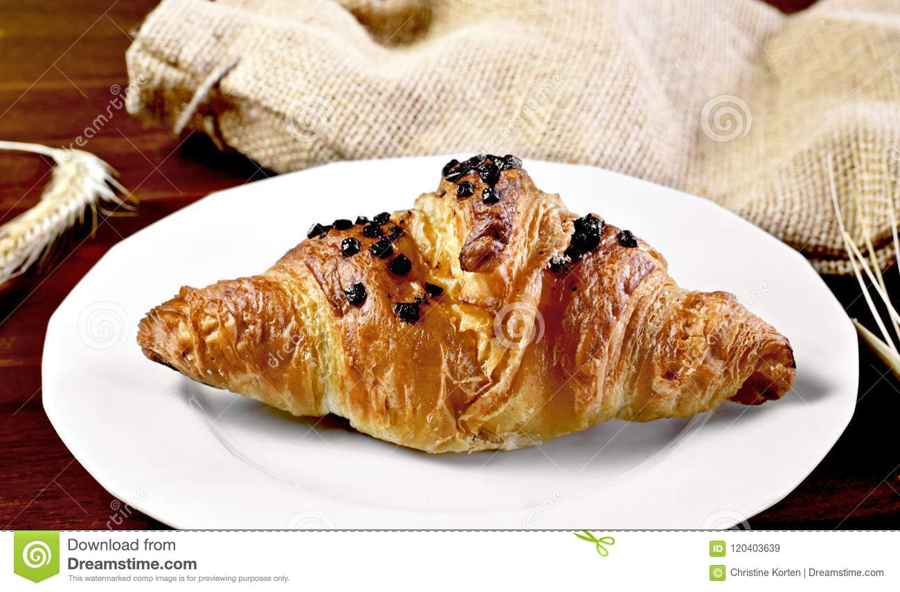 Delicious French Chocolate Croissant Or Butter Croissant