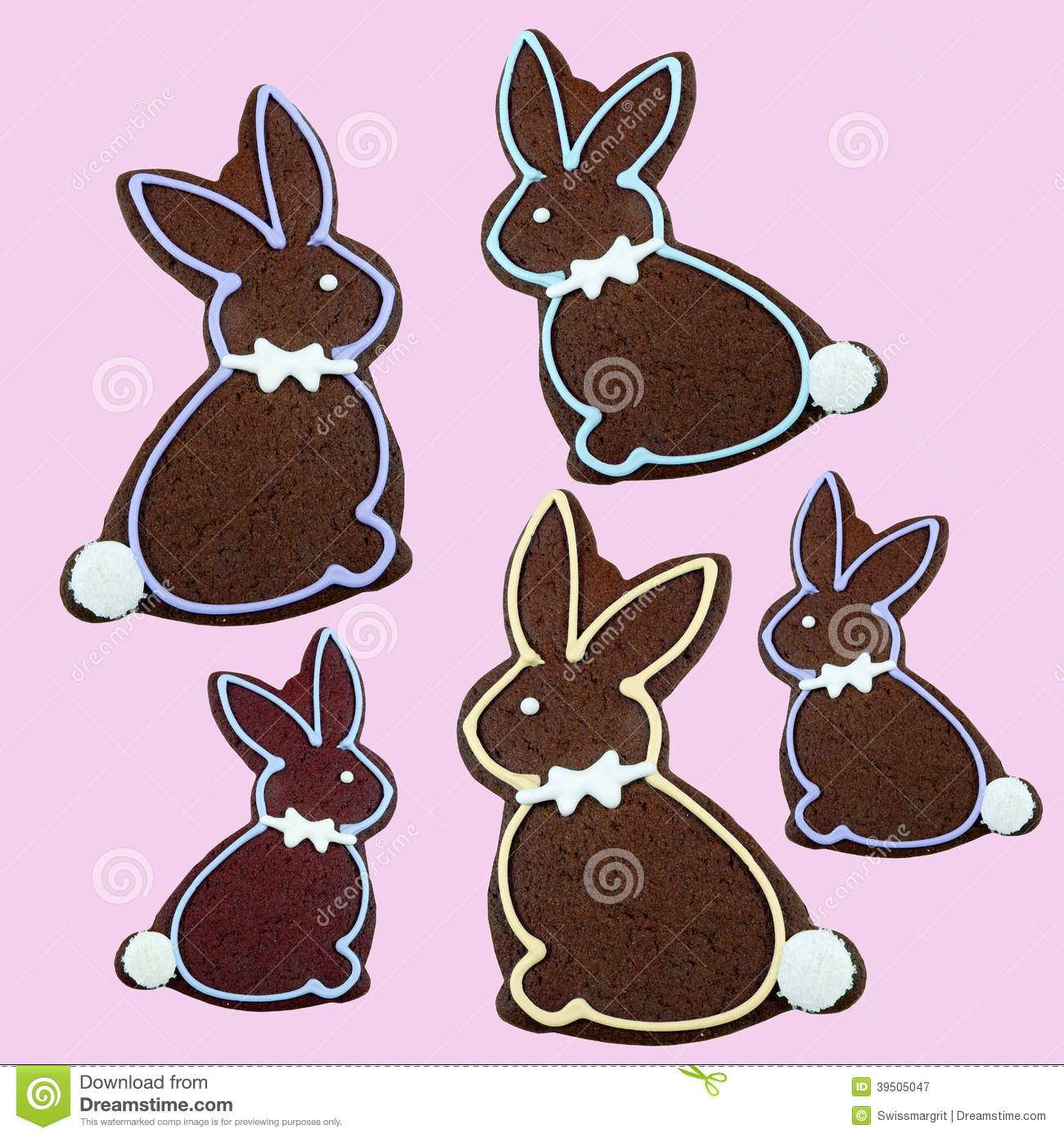 Delicious chocolate Easter Bunny Cookie